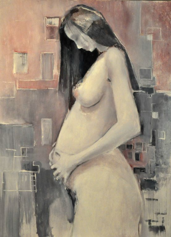 """20 weeks. Oil on canvas, 22"""" x 30"""". 2013. Private collection."""