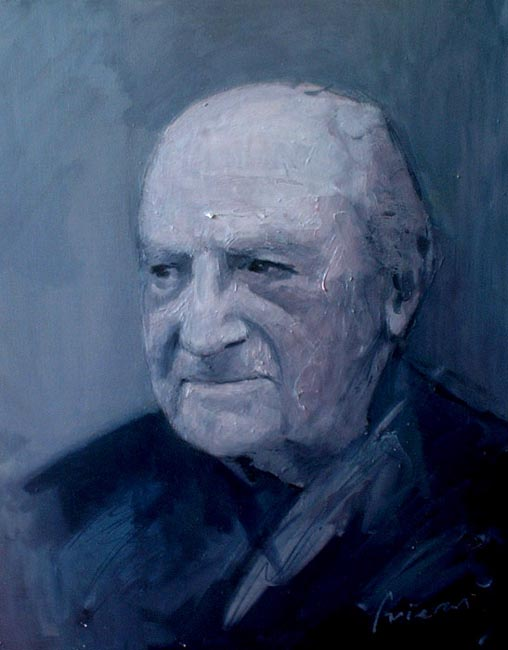 "Abuelo. Oil on canvas, 24"" x 30"". 1999. Private collection."