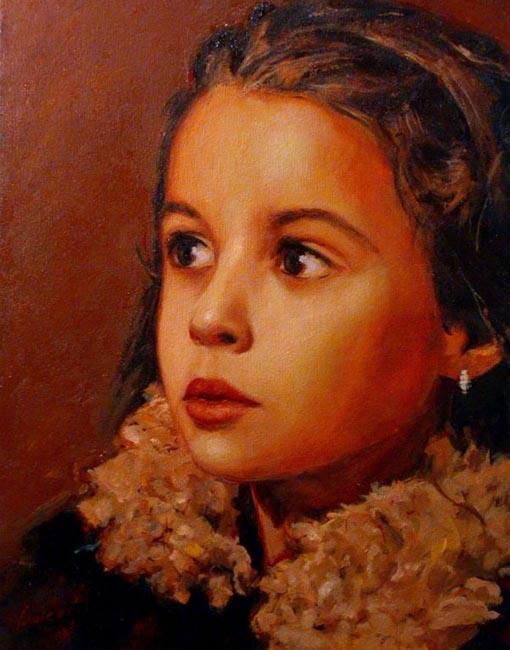 "Aliana. Oil on canvas, 24"" x 30"" . 2002. Private collection."