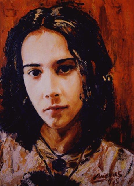 """Alicia. Oil on canvas, 24"""" x 30"""". 1997. Private collection."""