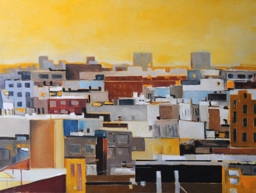 "Brooklyn horizon. Oil on canvas, 30"" x 40"". 2012. Private collection."