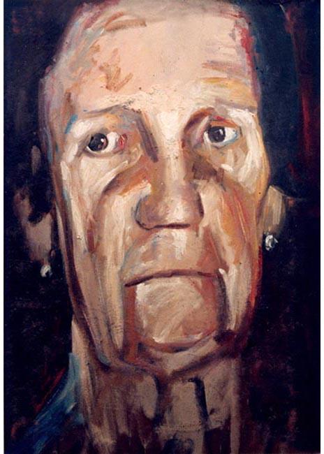"Buelita. Oil on canvas, 50"" x 70"". 1996. Private collection."
