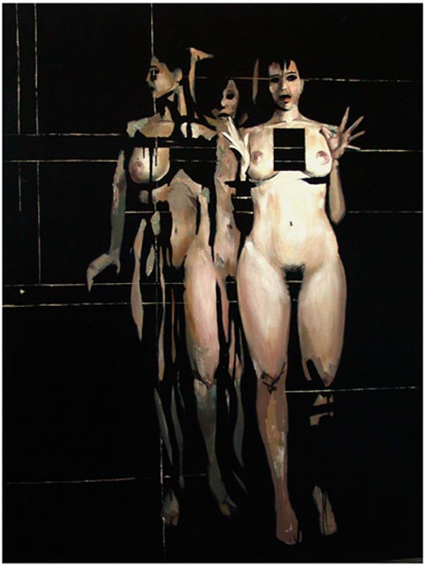 """Dance-three seconds-. Oil on canvas, 38"""" x 51"""". 1999. Private collection."""