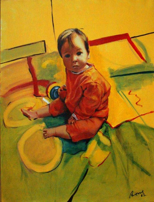 "Duna. Oil on canvas, 38"" x 50"". 2003. Private collection."