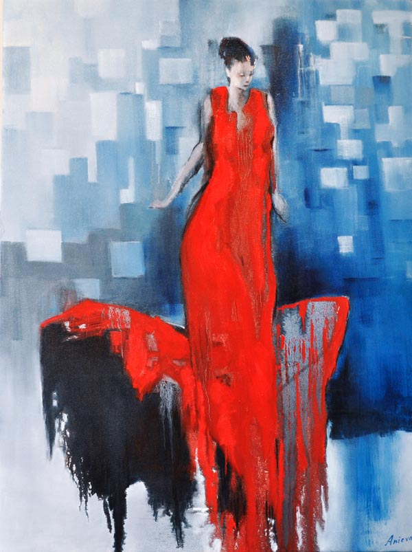 "Flamenco dancer X. Oil on canvas, 30"" x 40"""