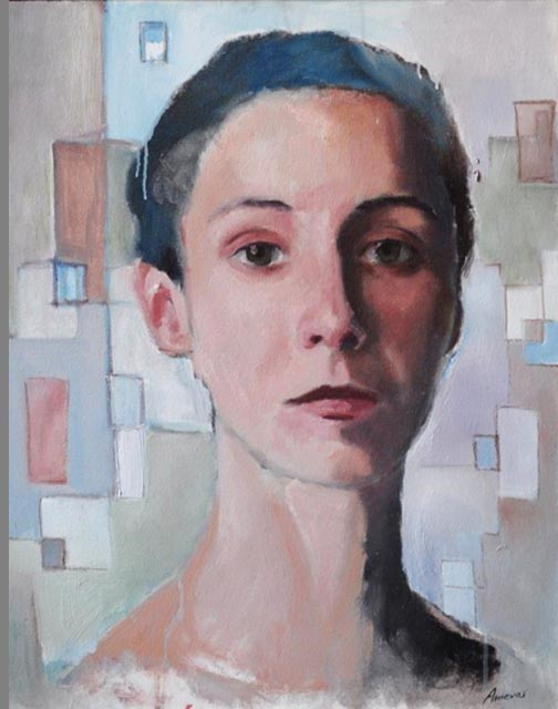 """Elizabeth. Oil  on canvas, 26"""" x 32"""". 2011."""