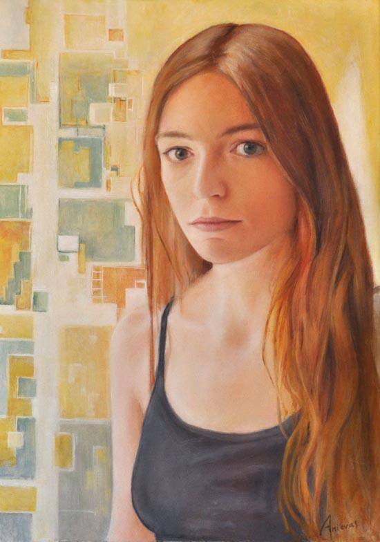 "Emily. Oil on canvas, 22"" x 31"". 2015"