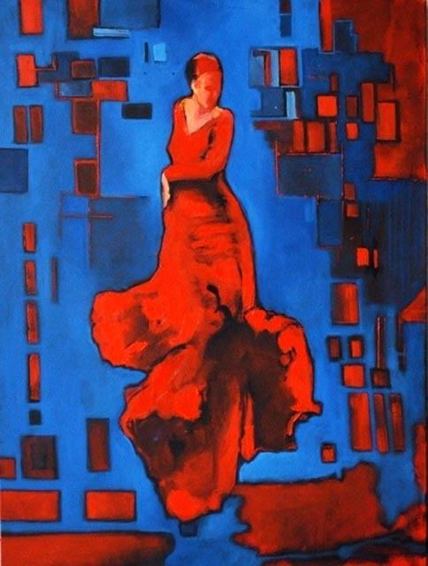 "Flamenco dancer IV. Oil on canvas, 30"" x 40"". 2012. Private collection."