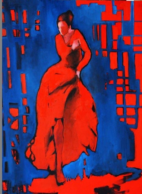 "Flamenco dancer VI. Oil on canvas, 30"" x 40"". 2012. Private collection."