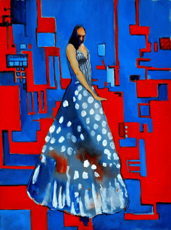 "Flamenco dancer VII. Oil on canvas, 24"" x 32"". 2013."