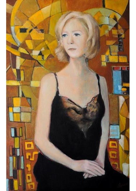 "Lisa. Oil  on canvas, 24"" x 36"".  2012. Private collection."
