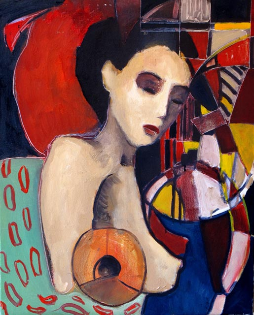 """Longing of you. Oil on canvas, 24"""" x 30"""". 2010. Private collection."""