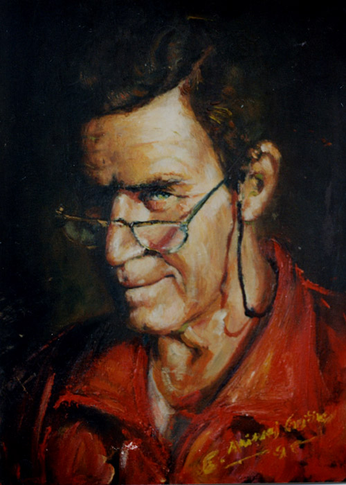 "Papa. Oil on canvas, 20"" x 24"". 1995. Private collection."