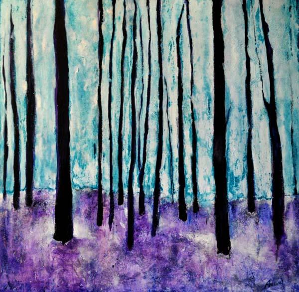 """Recuerdo. Oil on canvas, 28"""" x 28"""".   2011. Private collection."""