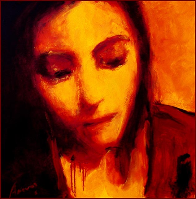 """Reflection. Oil on canvas, 24"""" x 24"""".  2006. Private collection."""