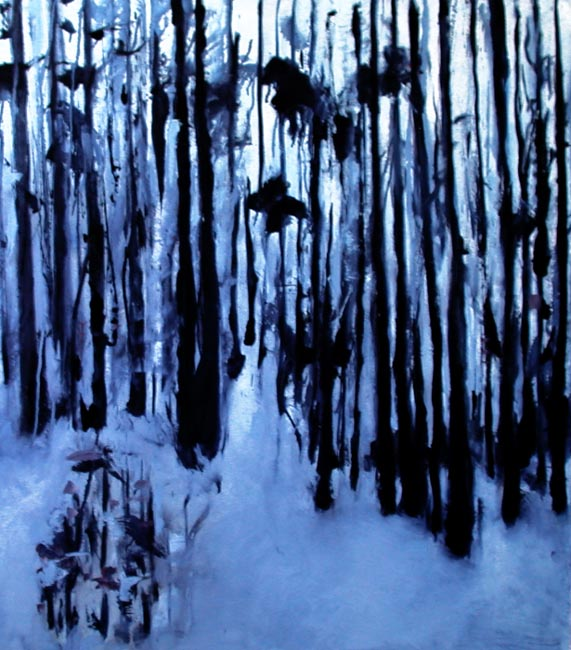 "Somewhere....sometime. Oil on canvas, 48"" x 48"". 2006. Private collection."