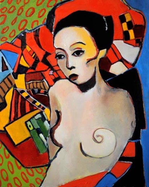 """Woman bust. Oil on canvas. 24"""" x 30"""". 2012. Private collection."""