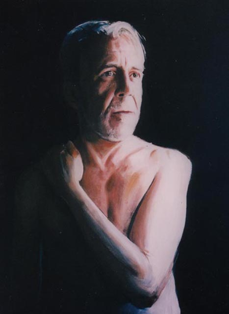 "Xavier. Oil on canvas, 24""x 36"" 2001. Private collection."