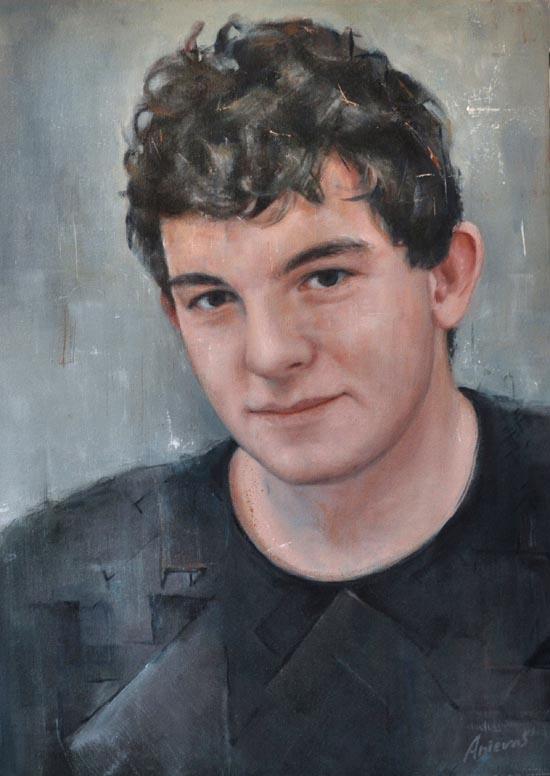 """ian. Oil on canvas, 22"""" x 31"""". 2015"""